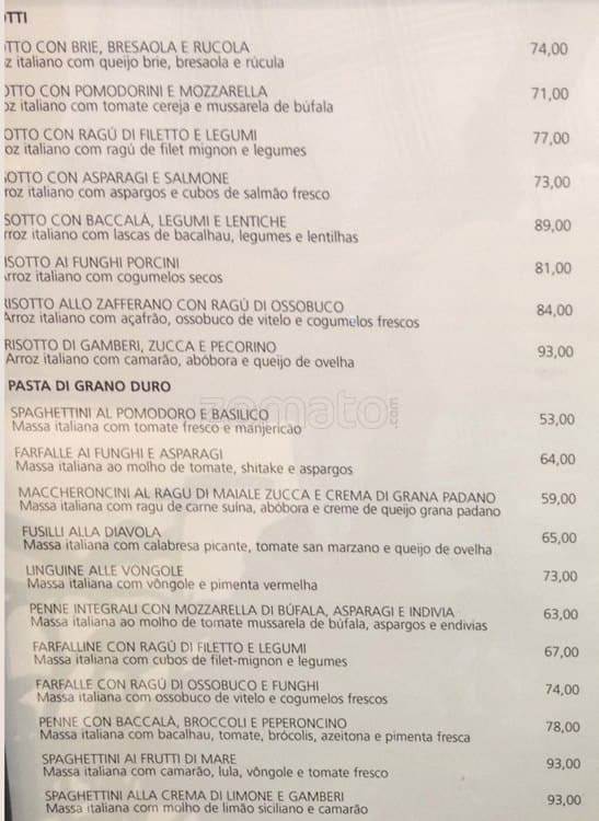 Cafe Copia Menu