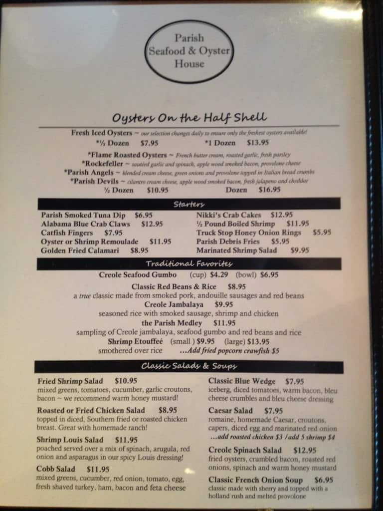 Trussville (AL) United States  city images : Parish Seafood & Oyster House Menu Zomato United States